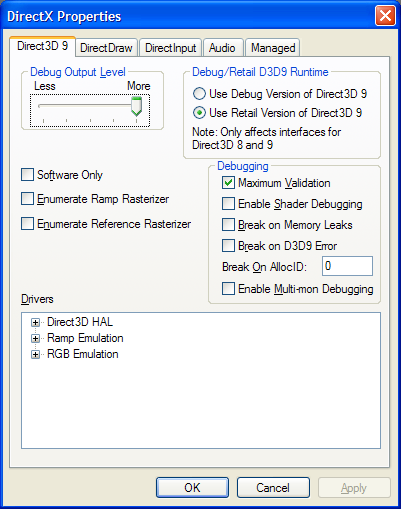 direct3d 9 interface