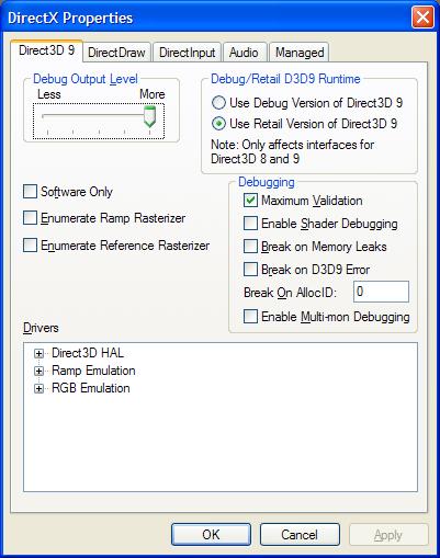 direct3d 9 interface